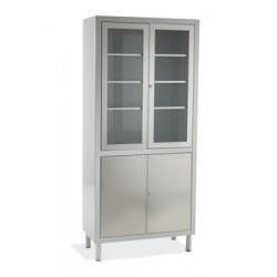 vitrina gris 4 puertas