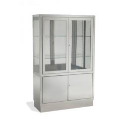 vitrina 4 puertas inoxidable