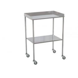 mesa auxiliar cromada