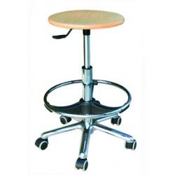 taburete especial asiento madera